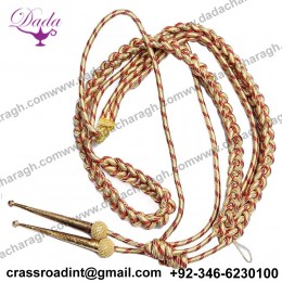 General Dress Aiguillette Military army airforce navy officer uniform ceremonial gold and red aiguillette