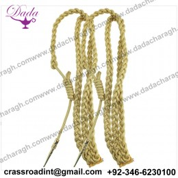 GENUINE U.S ARMY DRESS AIGUILLETTE SYNTHETIC GOLD