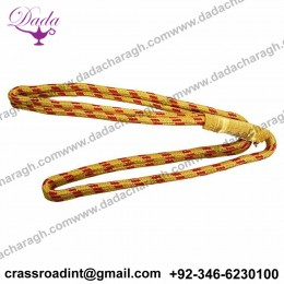GENUINE U.S. MARINE CORPS SERVICE AIGUILLETTE - 2 STRAND GOLD AND RED