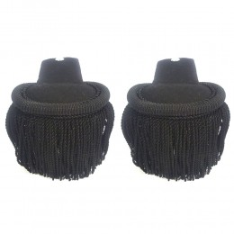 Black Silk Shoulder Epaulettes with Fringe Marching Band Epaulette Board