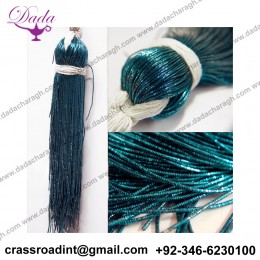 1MM French Metallic Check purl Wires in Enamel Blue Colour