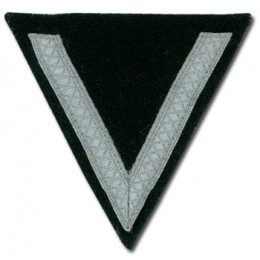WW2 German Rank Chevron - 1 Stripe - Black