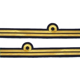 Cuff Rank Sleeve 1 Curl 1 Bar,Gold wire Lieutenant