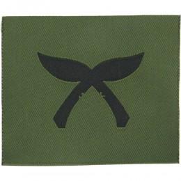 Gurkha Troops (Crossed Black Kukris On Olive) Woven Regimental cloth arm badge