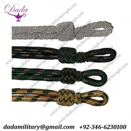 Blue and black silk thread cap cord