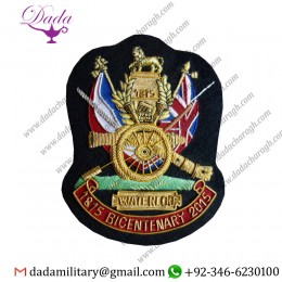 Bullion Patches Battle of Waterloo Bicentenary Blazer Badge