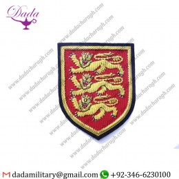 3 Lions Blazer Badge Blazer Badge Wire Bullion Badge