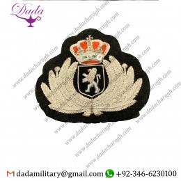 Bullion Patches Belgium Air Force Officers Cap Badge