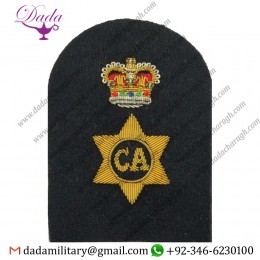 Applique Embroidery Badge hand embroidery badges Caterer  Crown Trade