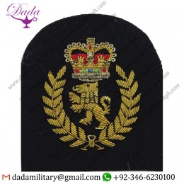 Applique Embroidery Badge hand embroidery badges Chief Artificer's Rank Badge