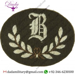 Applique Embroidery Badge hand embroidery badges Class Tradesman Large White On Khaki Embroidered Army