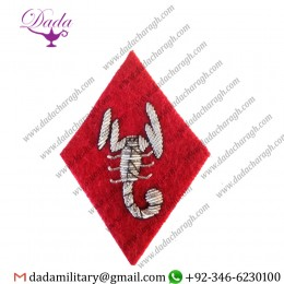 Applique Embroidery Badge hand embroidery badges COMMANDO Scorpion bullion Patch