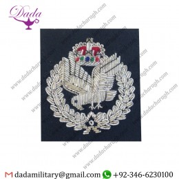 Blazer Badge Army Air Corps Beret Badge, AAC, A.A.C, Officers, Cap, Headwear, Embroidered