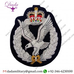 Blazer Badge Army Air Corps Hand Embroidered Bullion Blazer Badge