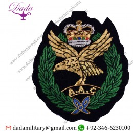 Blazer Badge Army Air Corps, Blazer Badge Wire Bullion