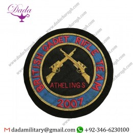 Blazer Badge Athelings British Cadet Rifle Team Uniform Badge