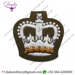 Blazer Badge badge crown future army dress warrant officers class 2 crown fad wo2 crown