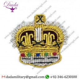 Blazer Badge badge crown gold silver rank badge 25mm