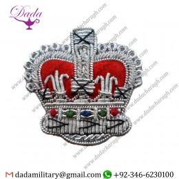 Blazer Badge badge crown silver high quality size 32mm