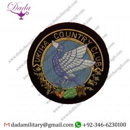 Blazer Patch Ukiha Country Club Blazer Badge Hand Embroidered Bullion And Wire Blazer Badge