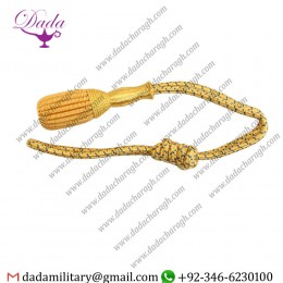 Custom made Military Officer Sword knot Golden Bullion With Gold Braid - Sword Knots  Wholesale