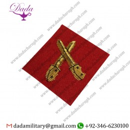 Bullion Patches Brecon 2 Mess Dress Sleeve Badge, Junior Red Crossed Daggers, Army, Military