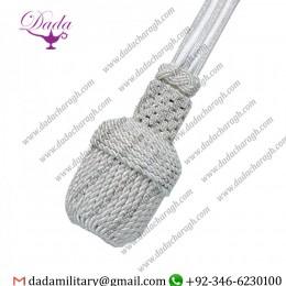 Custom made Military Uniform Cord Silver Bullion Sword Knot Silver navy metallic Dress Sword Knot