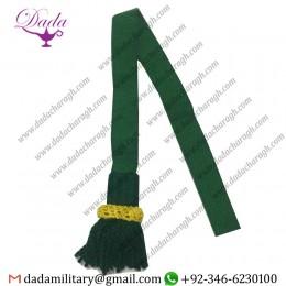 Customized Dark green leather strap, green woven leather slide, white crown, green acorn, blue eye
