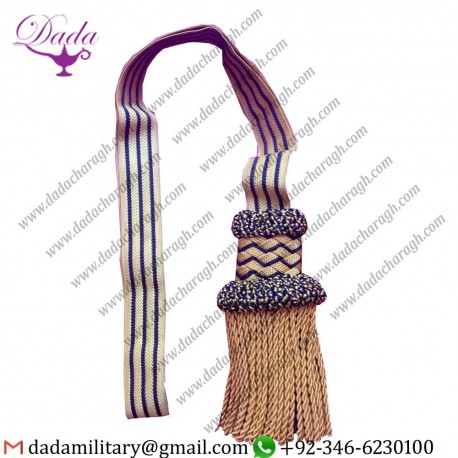 Customized French Cavalry Officer Cord Style Sword Knot Royal air force military sword knot
