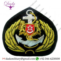 Custom Singapore Navy Officer Hat Cap Badge New Hand Embroidered