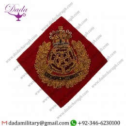 Embroidered Crest Badges  Lancasters Officers Embroidered Beret Badge, Red Lancs Patch Headwear