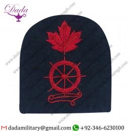 Embroidered Crest Badges Embroidered Bullion Wire Blazer Badges