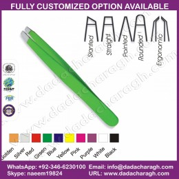FLAT HEAD GREEN COLOR TWEEZER
