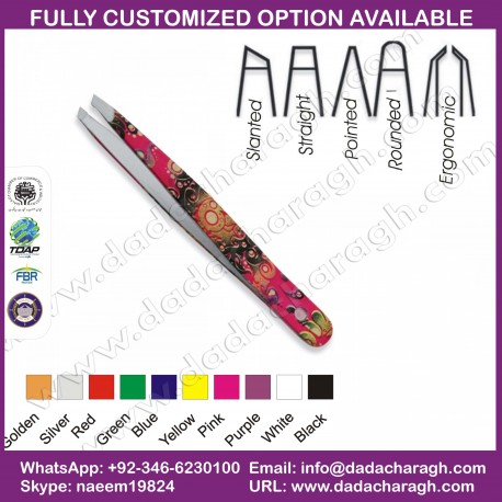DCM STAINLESS STEEL EYEBROW TWEEZER ACCEPT