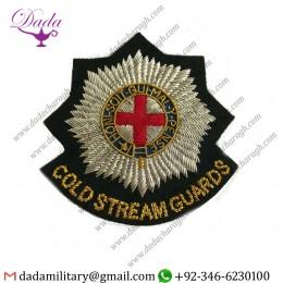 Handmade Badge Coldstream Guards Military Blazer Badge Wire Bullion Badge