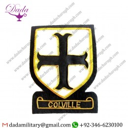 Handmade Badge Colville Scottish Clan Name Badge New Hand Embroidered
