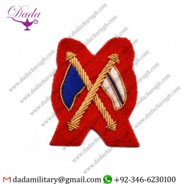 Handmade Embroider Regimental Signaller, Dress Badge Wire Bullion