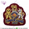 Hat Cap Badge Warrant Officer Class 1 Hand Embroidered Rank Badge Maroon