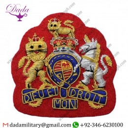 Hat Cap Badge Warrant Officer Class 1 Hand Embroidered Rank Badge Red