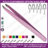 TWEEZERS THIN SLANTED DIFFERENT PATTERNS BEAUTY INSTRUMENTS