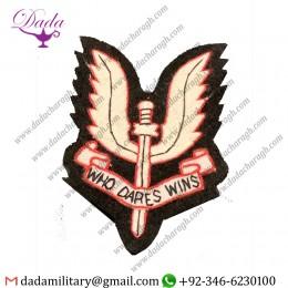 Manufacturer The Special Air Service Regiment Blazer Badge Hand Embroidered