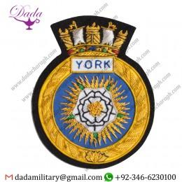 Military Badge 1397 Hmcs York Blazer Badge