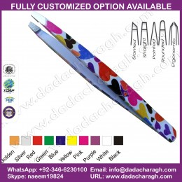 ,TWEEZER STAINLESS STEEL TOOLS TWEEZERS,BEAUTIFUL PAINTED STAINLESS STEEL BEAUTY TWEEZERS