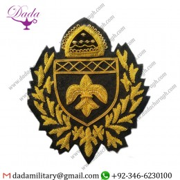 Military Motif Hand Embroidery Badges