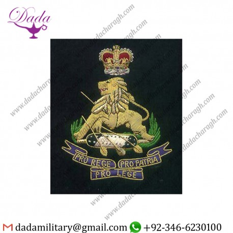 Military Motif Hand Embroidery Bullion Wire Badges