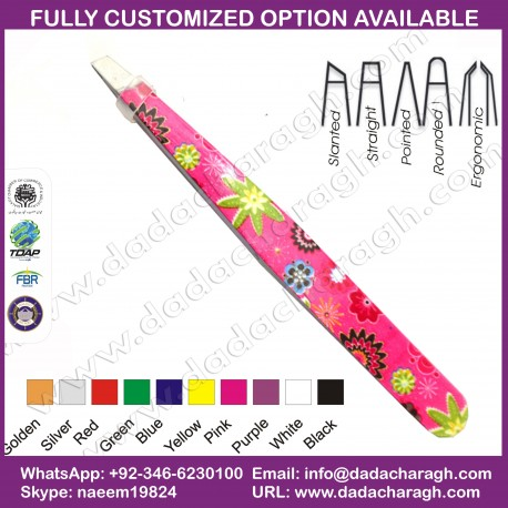 BRANDED TWEEZER,CUSTOMIZED TWEEZER,COLORFUL EYEBROW TWEEZERS, SLANTED TWEEZERS,