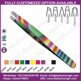 DIFFERNT COLOR PATTERN TWEEZER,EYEBROW TWEEZERS PAKISTAN TWEEZER MANUFACTURER PROFESSIONAL EYEBROW