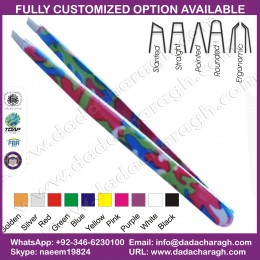 IDEAL TWEEZER,CUSTOMIZE TWEEZER PROFESSIONAL COATED PRECISION TWEEZERS  STAINLESS STEEL