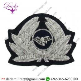 Pilot Badge Cap Generic Badge Airline Cap Badge Silver