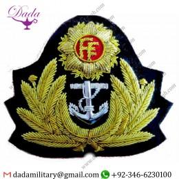 Sew On Badge Irish Navy Officer Hat Cap Badge Cp Made Real Version